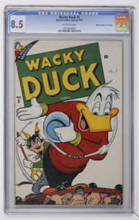 "Wacky Duck #5 Davis Crippen (""D"" Copy) pedigree (Marvel, 1947) CGC VF+ 8.5 Off-white pages"