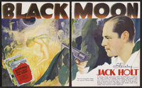 "Black Moon (Columbia, 1934). Exhibitor's Book Pages (2) (11"" X 14""). Horror"
