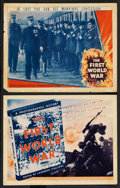 """Movie Posters:Documentary, The First World War (Fox, 1934). Title Lobby Card and Lobby Card (11"""" X 14""""). War Documentary. ... (Total: 2 Items)"""