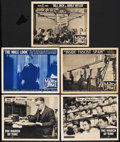 """Movie Posters:Documentary, The March of Time (RKO/20th Century-Fox, 1938-1943). Lobby Cards (5) (11"""" X 14""""). Documentary.... (Total: 5 Items)"""