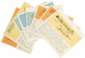 """Autographs:Celebrities, Collection of Autograph Musical Quotes Signed consisting of eight items, all in ink on colored cardstock, approximately 5.5""""... (Total: 8 Item)"""