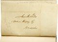 Autographs:U.S. Presidents, James Buchanan Franked Address Leaf bound in an 1841 pro-Van BurenSpeech. Speech/of/Mr. Buchanan of Pennsylvania,/in/...