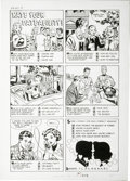 "Original Comic Art:Complete Story, Warren Kremer - Hi-School Romance #50 Complete 1-page Story ""RateYour Date-ability"" Original Art (Harvey, 1956)...."