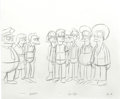 Animation Art:Production Drawing, The Simpsons - Homer, Bart, and Lisa Simpson, Milhouse Van Houten,Chief Wiggum, Moe, Apu, Lenny, and Disco Stu Animation Draw...(Total: 5)