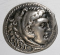 Ancients:Greek, Ancients: Macedonian Kingdom. Alexander III. 336-323 B.C. ARtetradrachm (31 mm, 16.81 g). Perga, year 17 (205/4 B.C.). Head ofHerakl...