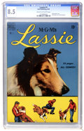 Golden Age (1938-1955):Miscellaneous, Lassie #1 (Dell, 1950) CGC VF+ 8.5 Cream to off-white pages....