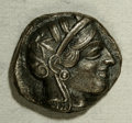 Ancients:Greek, Ancients: Attica, Athens. Ca. 449-404 B.C. AR tetradrachm (24 mm,16.70 g). Helmeted head of Athena right / Owl standing right, headf...