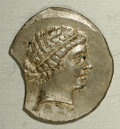 Ancients:Greek, Ancients: Aeolis, Kyme. Ca. 165-140 B.C. AR tetradrachm (31 mm,15.20 g). Metrophanes, magistrate. Head of the Amazon Kyme right,wear...