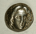 Ancients:Greek, Ancients: Carian Islands, Rhodes. Ca. 305-275 B.C. AR didrachm (17mm, 6.68 g). Head of Helios facing slightly right / Rose with budt...