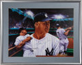 Baseball Collectibles:Others, Mickey Mantle Signed Oversized Lithograph....