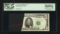 Error Notes:Ink Smears, Fr. 1971-L $5 1969B Federal Reserve Note. PCGS Choice About New58PPQ.. ...