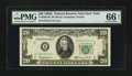 Small Size:Federal Reserve Notes, Fr. 2064-B* $20 1950E Federal Reserve Note. PMG Gem Uncirculated 66 EPQ.. ...