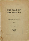 Books:Science Fiction & Fantasy, Frederick Robinson. The War of the Worlds. A Tale of the Year 2,000 A. D. [n. p., Privately printed by the autho...