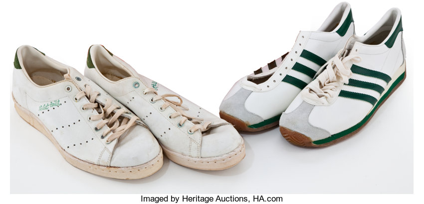 official photos a5a8e 3c9c4 Two Pairs of Adidas Athletic Shoes, 1960s-1970s.... (Total ...