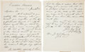 Autographs:U.S. Presidents, Ulysses S. Grant Autograph Letter Signed... (Total: 2 Items)