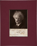 Autographs:Authors, Mark Twain Autograph Quotation Signed with Photograph....