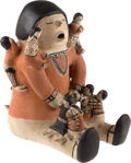 American Indian Art:Pottery, A COCHITI POLYCHROME STORYTELLER. Helen Cordero. c. 1980...