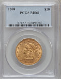 Liberty Eagles: , 1888 $10 MS61 PCGS. PCGS Population (35/35). NGC Census: (113/47).Mintage: 132,996. Numismedia Wsl. Price for problem free...