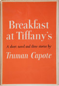 Books:Literature 1900-up, Truman Capote. Breakfast at Tiffany's. New York: RandomHouse, [1958]. First edition, first printing. Octavo. [v...
