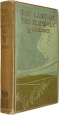 Books:Signed Editions, Zane Grey. The Last of the Plainsmen. New York: OutingPublishing, 1908. First edition. Signed by Grey and C. ...