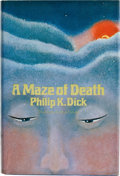 Books:First Editions, Philip K. Dick. A Maze of Death. Garden City: Doubleday& Company, 1970. First edition. Review copy with slip la...