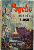 Books:Horror & Supernatural, Robert Bloch. Psycho. London: Robert Hale Limited, [1960].First UK edition. Signed by the author on the tit...