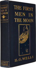 Books:First Editions, H. G. Wells. The First Men in the Moon. Indianapolis: TheBowen-Merrill Company, [1901]. First American edition, fir...