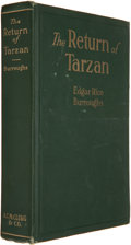 "Books:Science Fiction & Fantasy, Edgar Rice Burroughs. The Return of Tarzan. Chicago: A. C.McClurg, 1915. First edition (""Published March, 1915""..."