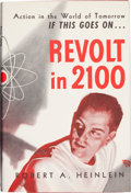 "Books:Signed Editions, Robert A. Heinlein. Revolt in 2100. Chicago, ShastaPublishers, [ 1953]. First edition, first printing. Signed ""R...."
