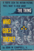 Books:Signed Editions, John W. Campbell, Jr. Who Goes There? Chicago: ShastaPublishers, [1951]. Second edition. Signed by the author o...
