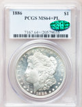 Morgan Dollars, 1886 $1 MS64+ Prooflike PCGS. CAC. PCGS Population (253/112). NGCCensus: (283/123). Numismedia Wsl. Price for problem fre...