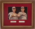 Baseball Collectibles:Others, Dizzy and Daffy Dean Signed Cut Signatures Display. ...