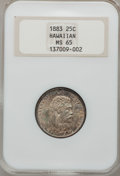 Coins of Hawaii: , 1883 25C Hawaii Quarter MS65 NGC. NGC Census: (135/105). PCGSPopulation (157/94). Mintage: 500,000. (#10987)...