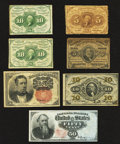 Fractional Currency:First Issue, Fractional Group Lot.. ... (Total: 7 notes)