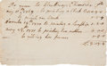 Autographs:Artists, [Revolutionary War] Artist Winthrop Chandler Autograph Document Signed Twice....