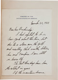 Autographs:Celebrities, Charles Lindbergh Autograph Letter Signed.... (Total: 2 Items)