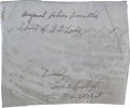 Autographs:Celebrities, Charles Lindbergh Signed Fabric from the Spirit of St.Louis....