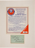 "Autographs:U.S. Presidents, Franklin D. Roosevelt ""Roosevelt Round-Up Rally"" Handbill With Autograph Note Signed as Governor of New York ""Franklin D..."