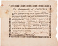 "Autographs:Statesmen, Benjamin Harrison: Revolutionary War Appointment Document Signed asGovernor of Virginia ""Benj Harrison"". One page, ..."