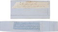 Autographs:Inventors, Pair of Confederate General's Clipped Signatures.... (Total: 2Items)