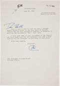 "Autographs:U.S. Presidents, Richard Milhous Nixon Typed Letter Signed ""RN"" With aGreeting at the Top...."