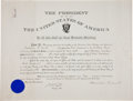Autographs:U.S. Presidents, Theodore Roosevelt Military Appointment Signed...
