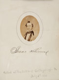 Photography:Cabinet Photos, 1860 Autograph and Photo Album Signed...