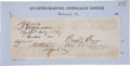 Autographs:Military Figures, Three Confederate Generals' Signatures: Braxton Bragg, Adley H. Gladden, and Jones Mitchell Withers....