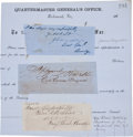 Autographs:Military Figures, Three Confederate Signatures: General James Longstreet, Colonel W. L. Powell, and General Simon B. Buckner.... (Total: 3 Items)