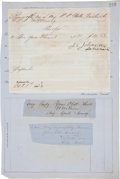 Autographs:Military Figures, Joseph E. Johnston Document Signed...