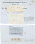 Autographs:Military Figures, Four Confederate Signatures: John H. Reagan (Confederate postmaster general), General Dabney H. Maury, William P. Miles (polit... (Total: 4 Items)