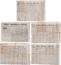 Miscellaneous:Newspaper, Civil War Newspapers (6)...
