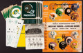 Football Collectibles:Others, 1965 NFL Championship Program, Dad Braisher Signed Xmas Card and Other Packers Memorabilia....