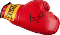Boxing Collectibles:Autographs, Erik Morales Signed Boxing Glove....